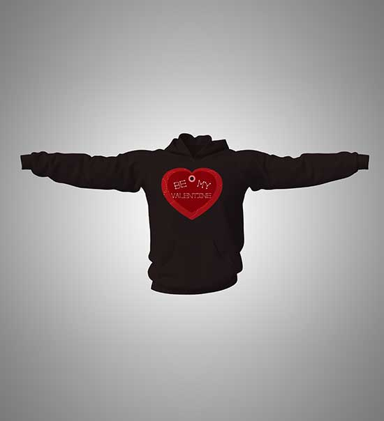 hoodie-with-print-bemyvalentine-black
